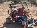 David in dune buggy with Dixon