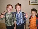 3 boys 1st day of school